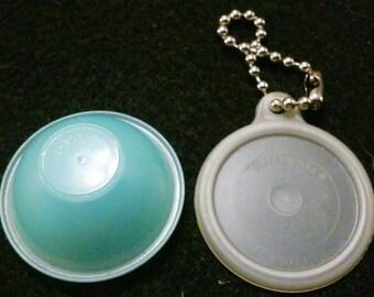 Vintage Tupperware mini bowl on chain.