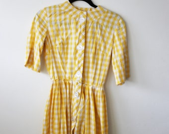 Checkered Summer Picnic Dress