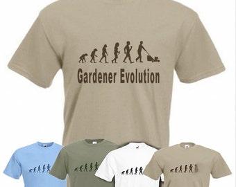 Evolution to Gardener t-shirt Funny Gardening T-shirt sizes S TO 2XXL