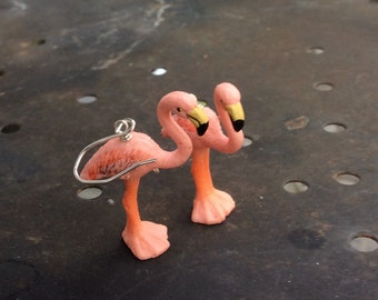 Flamingo earrings with Sterling silver