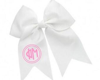 Phi Mu Monogram Hair Bows
