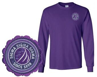 Sigma Sigma Sigma Patch Seal Long Sleeve T-Shirt