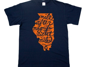Illinois Home Tee Chicago Windy City Magnificient Mile T shirt