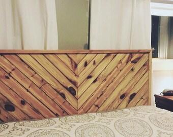 Rustic pine head board