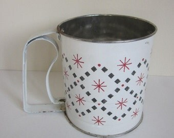 Vintage Androck Flour Sifter, Mid Century Starburst Sifter, Vintage Metal Flour Sifter, Atomic Mid Century Sifter