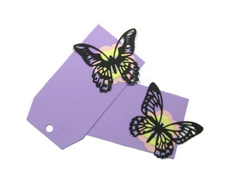 Extra Large Butterfly Gift Tags Set of 6