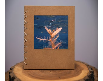 Water - handmade blank kraft paper notebook