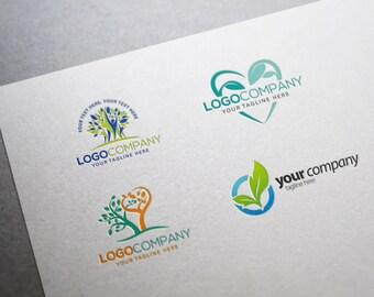Business Logo - Business Branding - Natural - Organic - Friendly Logo - Leaf - Eco - Healing - Organic Logo - Family
