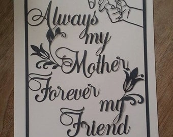 Always my Mother papercutting template..Commercial use