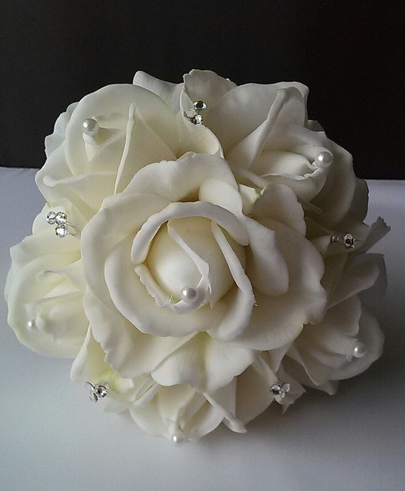 Bridal Bouquet Throwing : Real touch rose bridal toss bouquet by