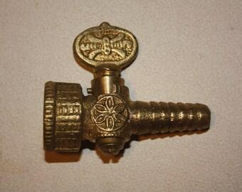 Vintage Brass Gas Valve