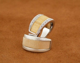 Ring Demeter Wood and Silver