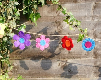 Flower bunting