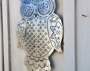 Sugar Skull inspired Owl Wall Art