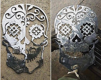 Sugar Skull Metal Wall Art