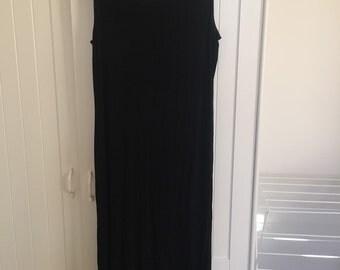 Black witchy full length dress