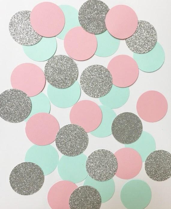 Aqua+Silver confetti//confetti, glitter confetti, party supply, bachelorette party, birthday party decorations, wedding shower,
