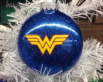 Holiday Christmas Tree Ornament Marvel Comic Superhero Wonder Woman