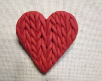Pin - polymer Clay - I Love To Knit