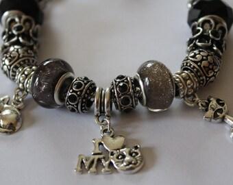 Cat lovers charm bracelet - christmas gift