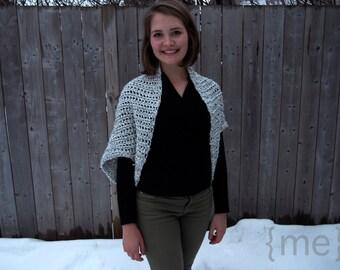 Grey Crochet Sweater Shrug