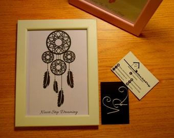 Dreamcatcher Print. 7x5 Framed Print