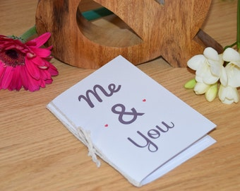 Me & You Notebook. A5 or A6