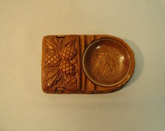 Burnwood Products Ashtray and Cigarette Box Combo