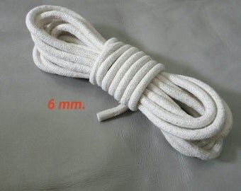 Cotton Rope, 6 mm. Diameter, 5 Yards (4.5 Meters Long), Natural Cotton Rope, Natural Cotton Cord, Natural Braided Rope, DIY Rope Decoration.