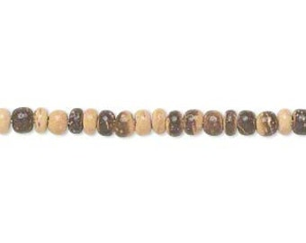 "Coconut Bead, Coconut Shell Rondelle, Brown Beads, lightweight beads, 3mm, 15"" Strand, D804"