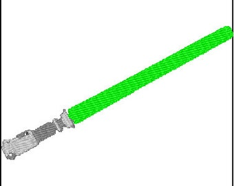 Lightsaber Embroidery Design Star Wars