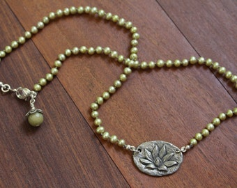 Lotus Enlightenment Pearl Necklace