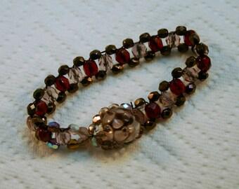 """B-201-7 lavender Beaded Bracelet 7"""""""