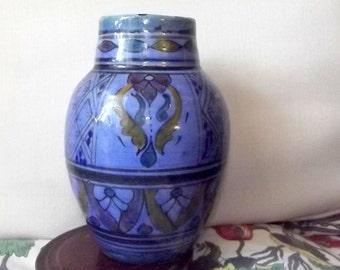 Islamic Polychrome Glaze turquoise Vase late 19th century