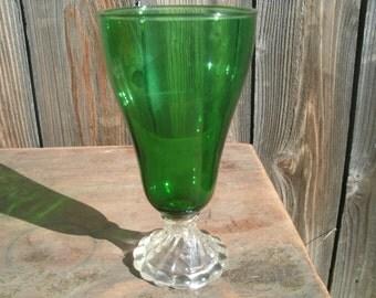Vintage Emerald Goblets Set of 6