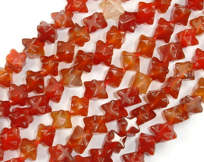 Carnelian Beads, 7 x 7 mm Carved Diagonal Cube Beads, 15.5 Inch, Full strand, Approx 45 beads, Hole 1 mm (182152001)