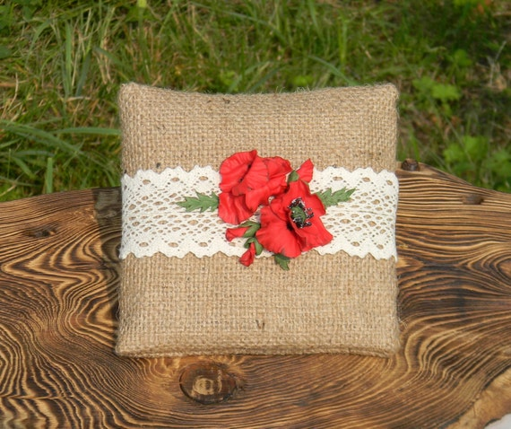 Make a Rustic Ring Pillow from a Wood Slice  DIY Weddings