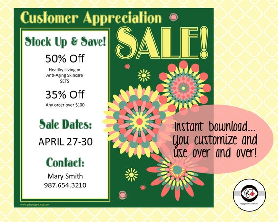 customer appreciation sale announcement instant by pdzdesigns