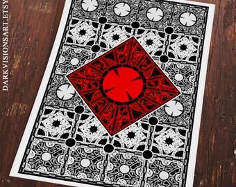 Hellraiser Puzzle Box Poster Art Print - Clive Barker Pinhead