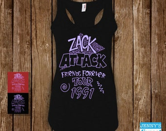 Zack Attack | Womens Tank | Saved By the Bell Tee-B19