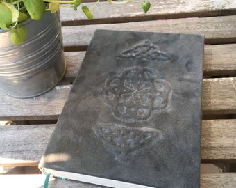 Notebook A5 leather cover embossed