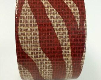 Zebra Print Duct tape, fashion duct tape, decorative tape, duct tape crafts, burlap duct tape, fashion duct tape, printed duct tape