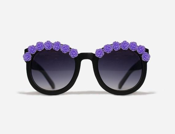 New York Purple Coachella Festival Sunglasses