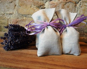 set of 5: natural lavender sachet large