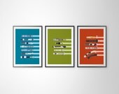 All 3 Colors - Star Wars RGB Lightsaber Color Poster Series