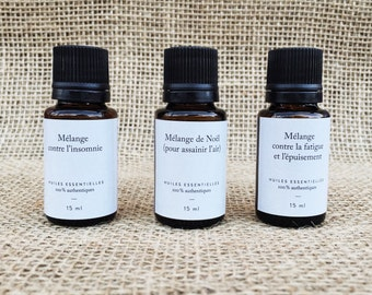 Trio of mixtures: set of essential oils - 3 bottles to 15 ml each