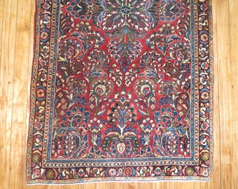 Antique Persian Sarouk Rug Size 2'6''x4'9''