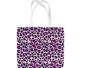 Pink Leopard Animal Print Design Tote Bag Shopping Bag Beach Bag School Bag
