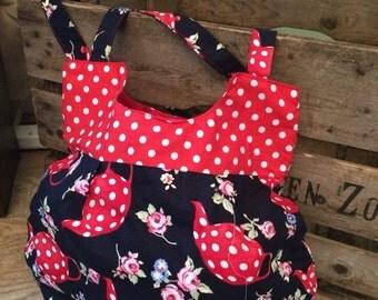 Handmade lovely shoulder day bag