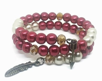 FSU Wrap bracelet Garnet and Gold colors